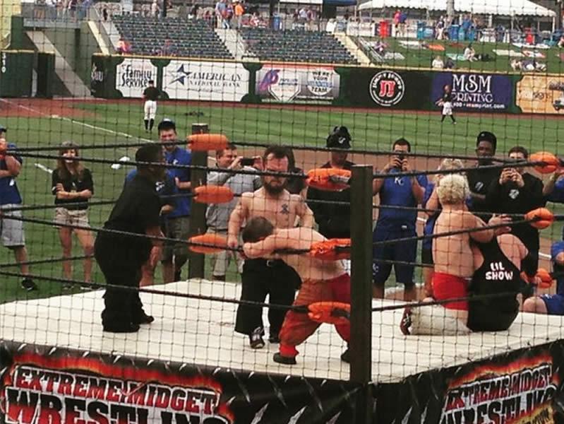 Extreme Midget Wrestlers Baseball Game Show