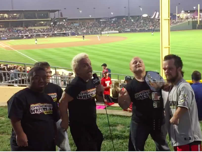Extreme Midget Wrestlers Baseball Game