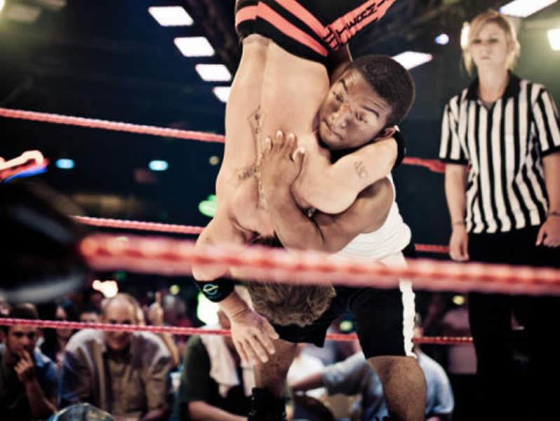 Midget Wrestler Pile Driver